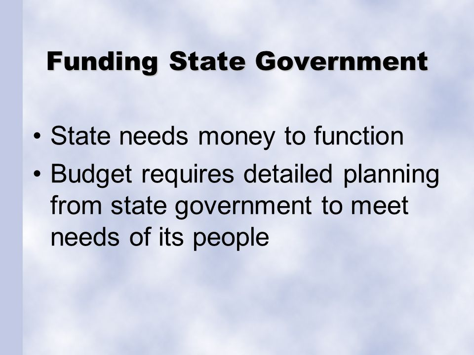 The State Budget Budget requires plan of receiving & spending money