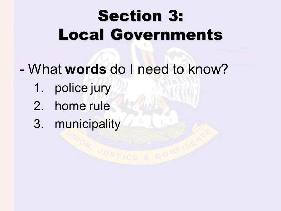 Parish Government Primary local government division