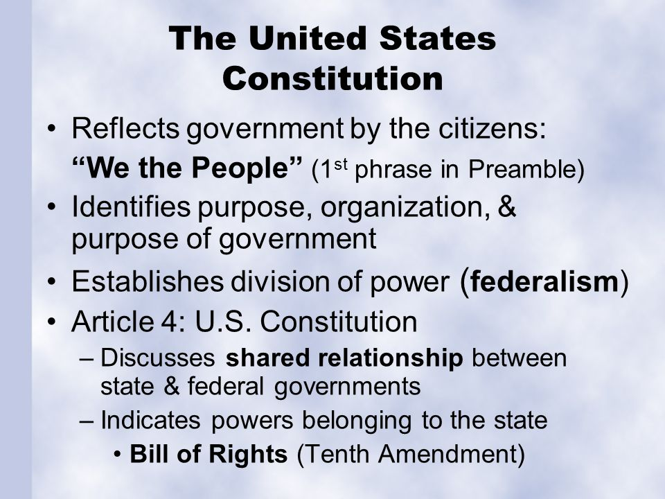 The State Constitution