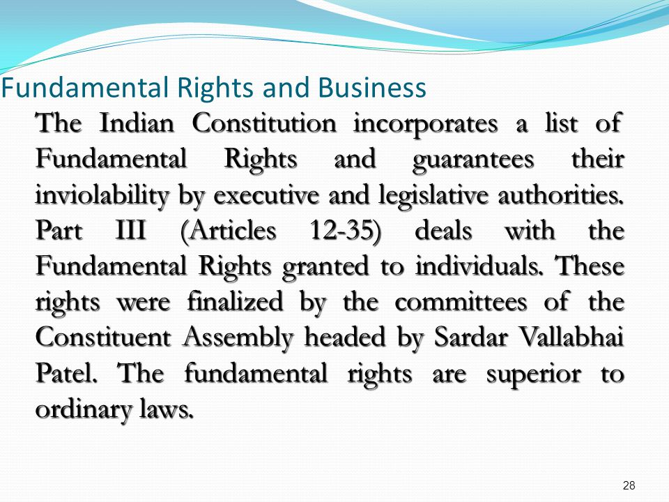 Fundamental Rights and Business