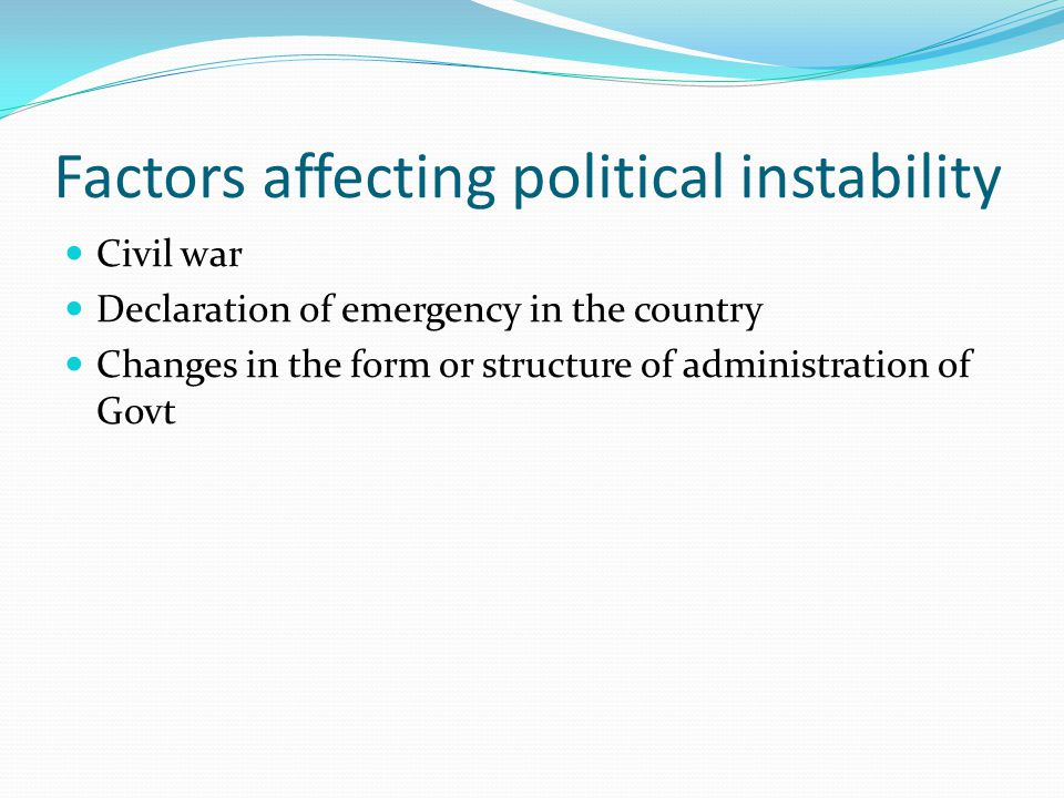 Factors affecting political instability