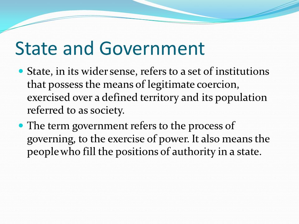 State and Government