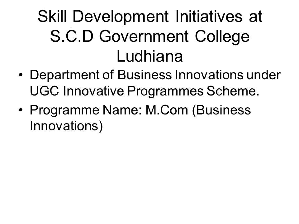 Skill Development Initiatives at S.C.D Government College Ludhiana