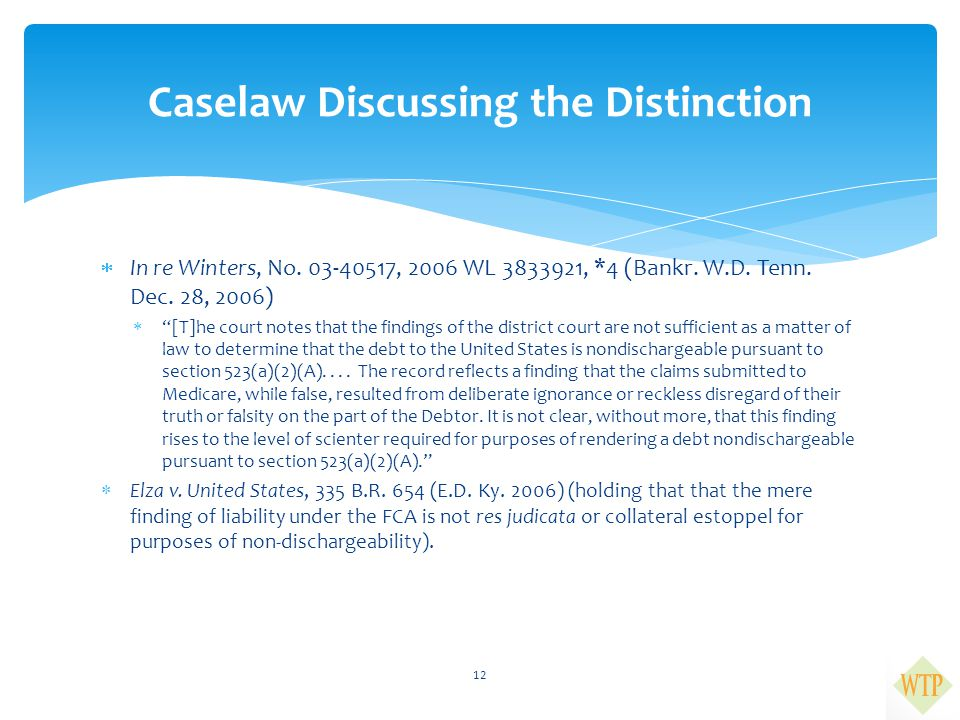 Caselaw Discussing the Distinction