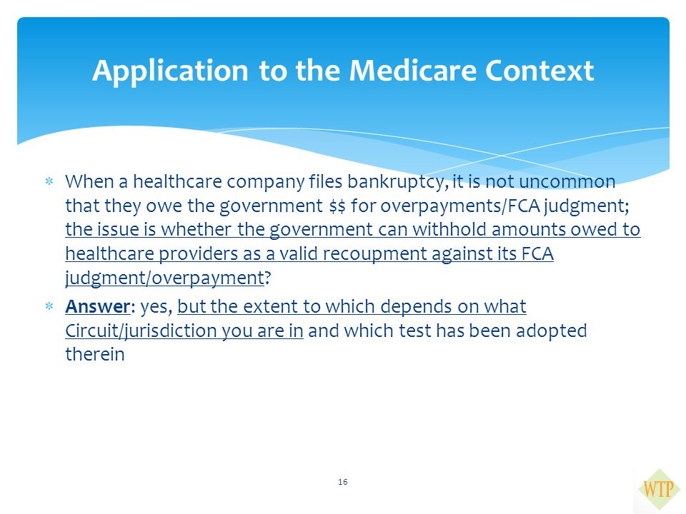 Application to the Medicare Context