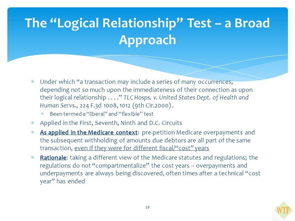 The Logical Relationship Test – a Broad Approach