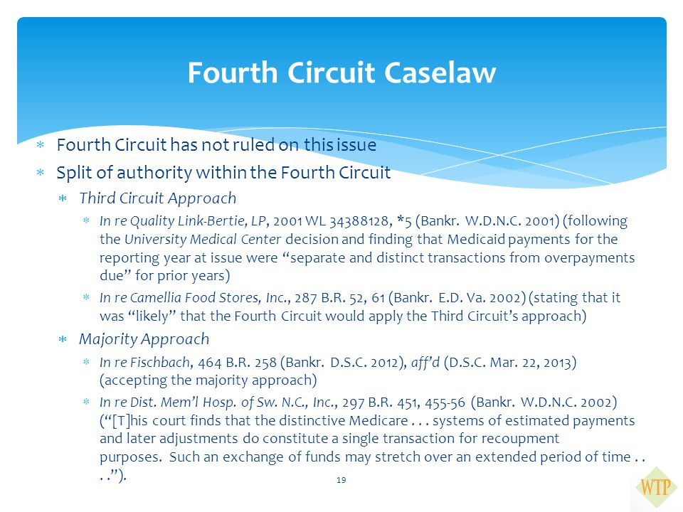 Fourth Circuit Caselaw