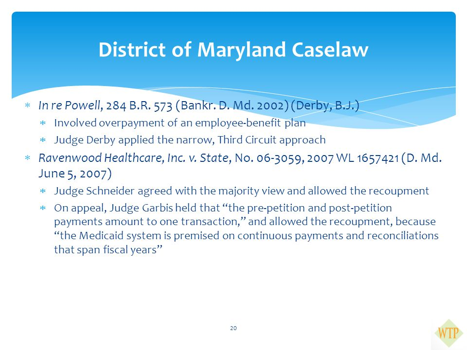 District of Maryland Caselaw