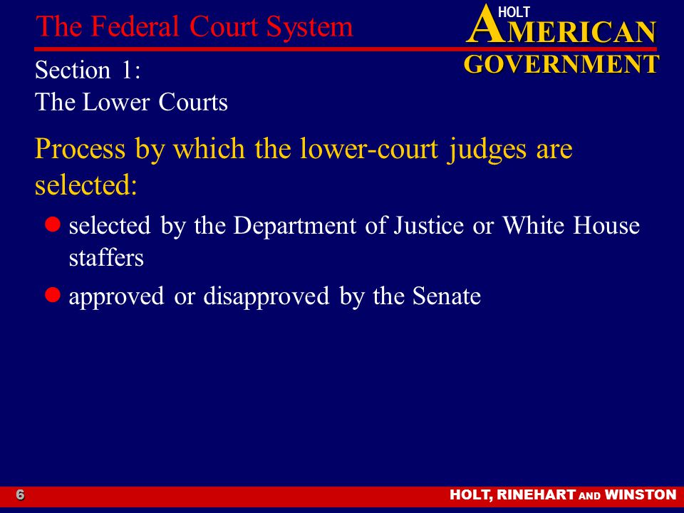Section 1: The Lower Courts
