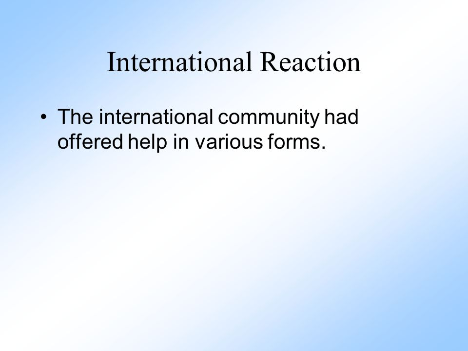 International Reaction