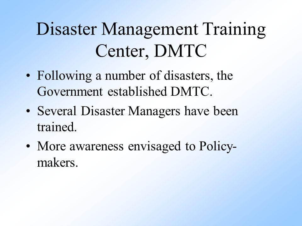 Disaster Management Training Center, DMTC