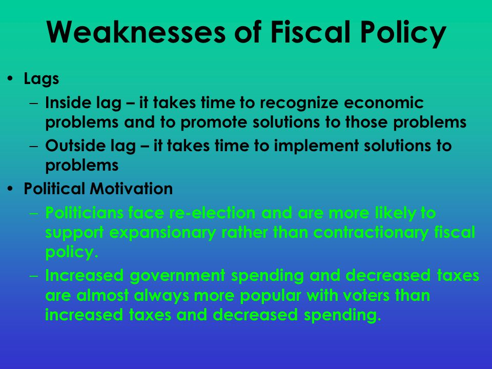 Weaknesses of Fiscal Policy
