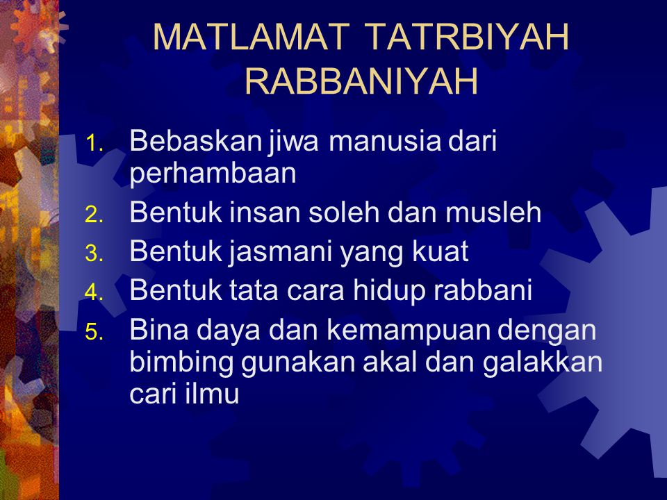 MATLAMAT TATRBIYAH RABBANIYAH