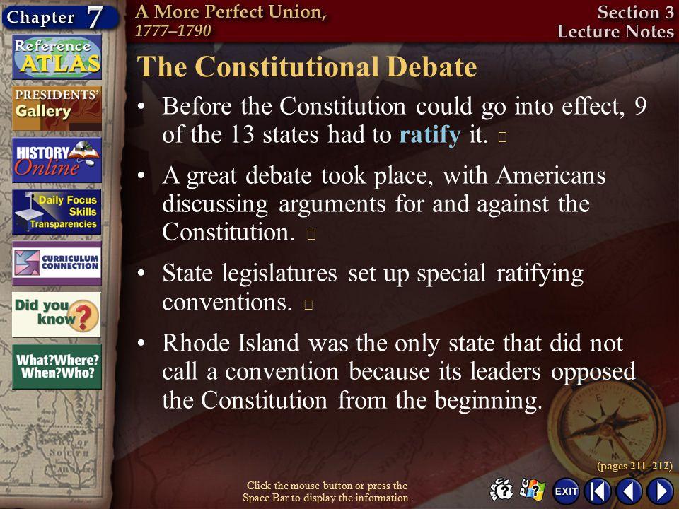 The Constitutional Debate
