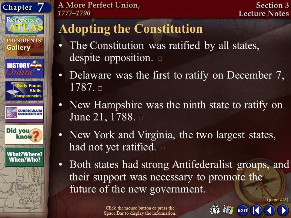 Adopting the Constitution