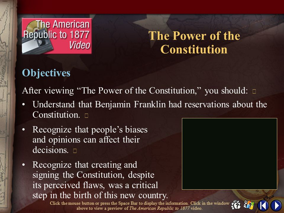 The Power of the Constitution