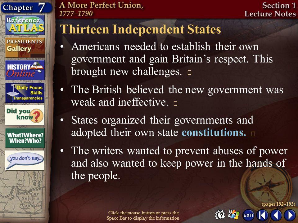 Thirteen Independent States