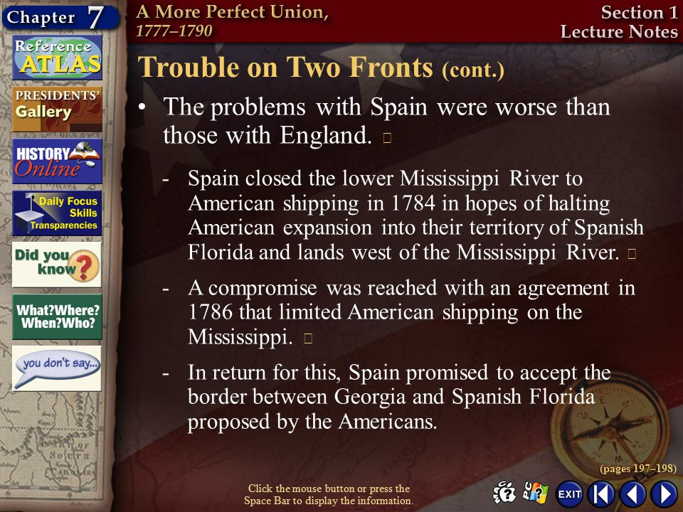 Trouble on Two Fronts (cont.)