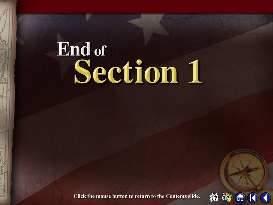 End of Section 1