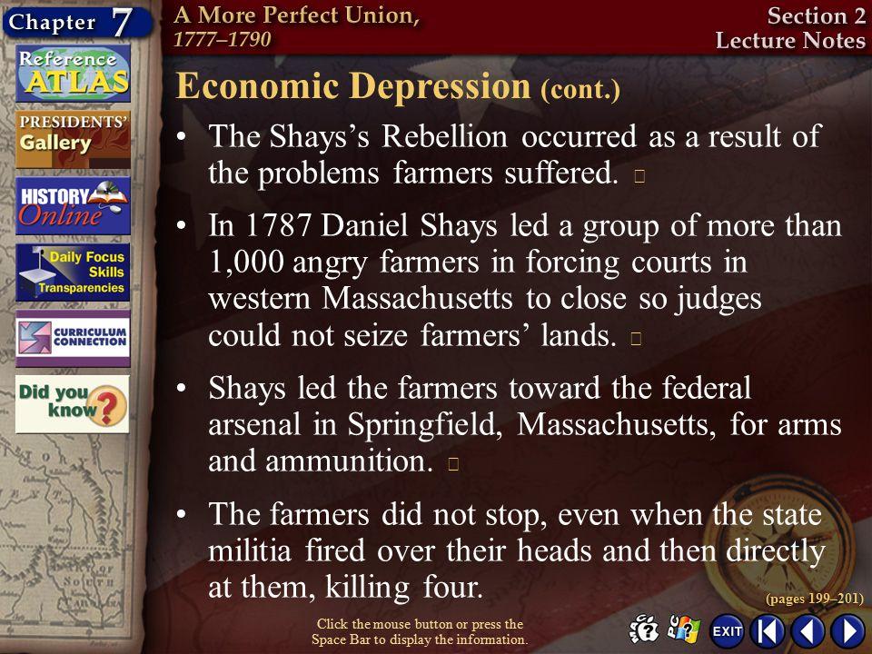 Economic Depression (cont.)
