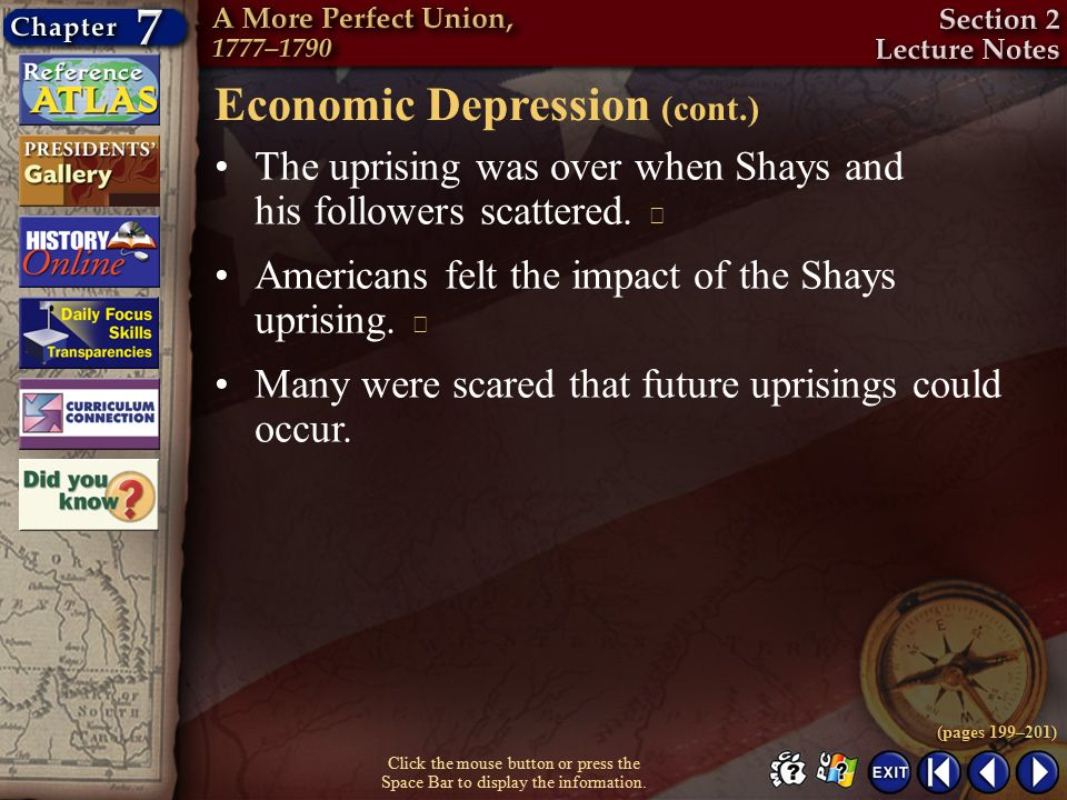 Economic Depression (cont.)