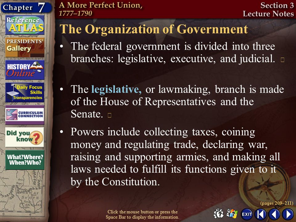 The Organization of Government
