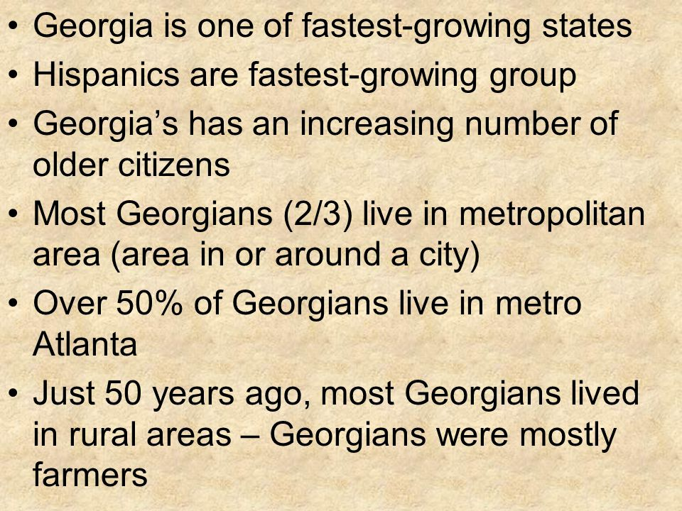 Georgia is one of fastest-growing states