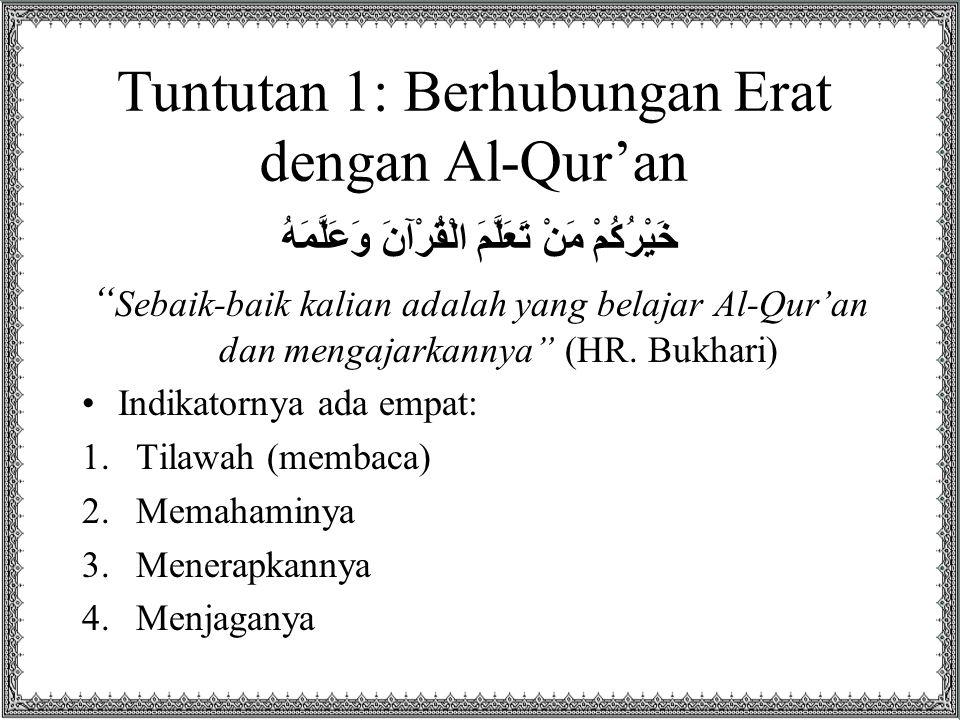 Tuntutan 1: Berhubungan Erat dengan Al-Qur'an