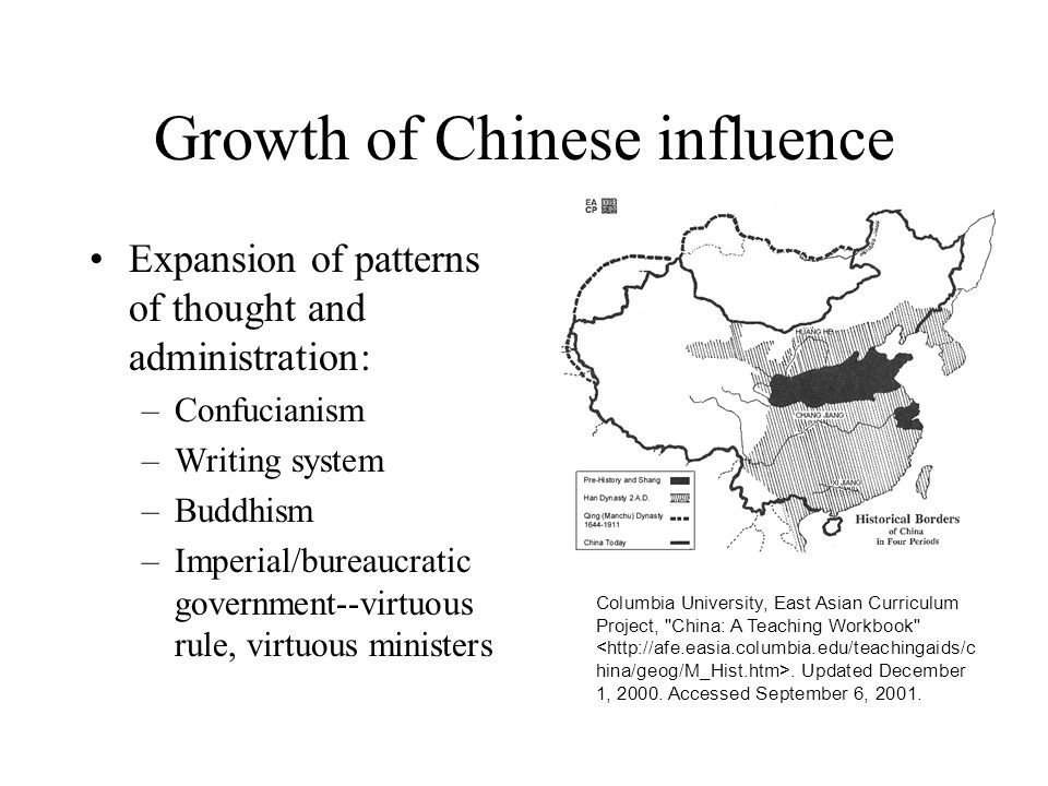 Growth of Chinese influence