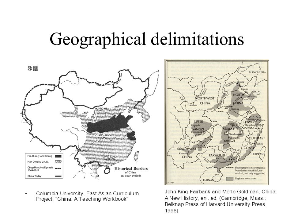Geographical delimitations
