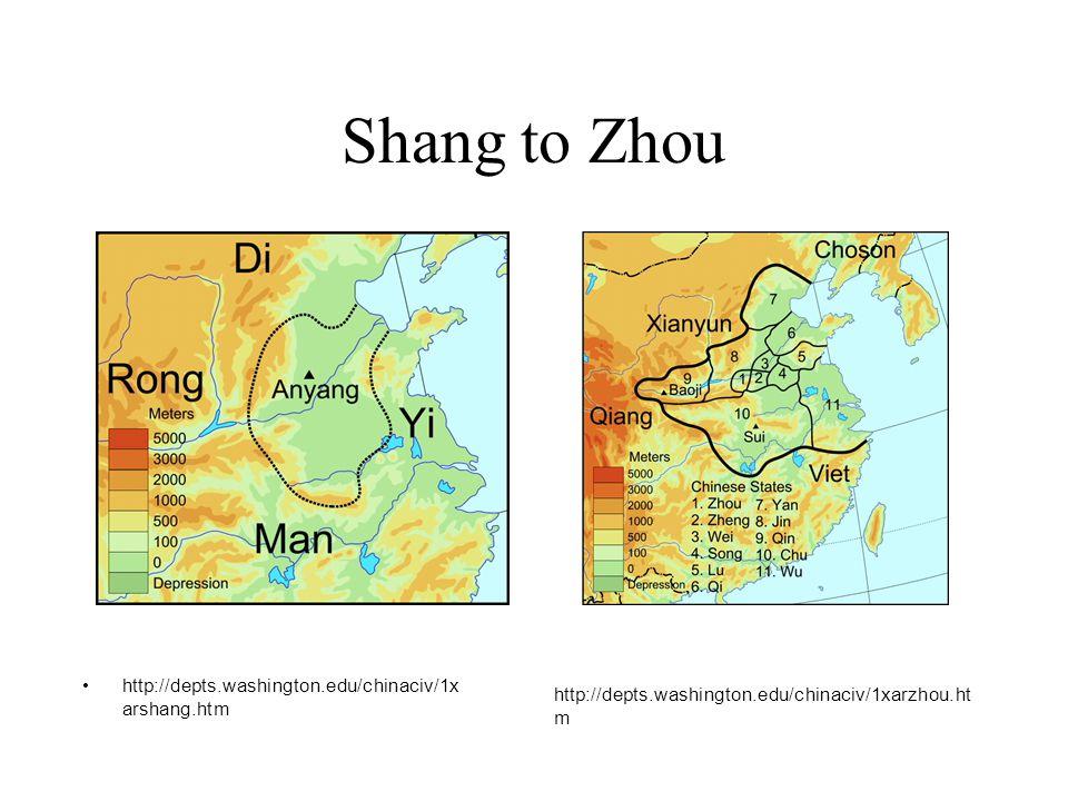 Shang to Zhou http://depts.washington.edu/chinaciv/1xarshang.htm