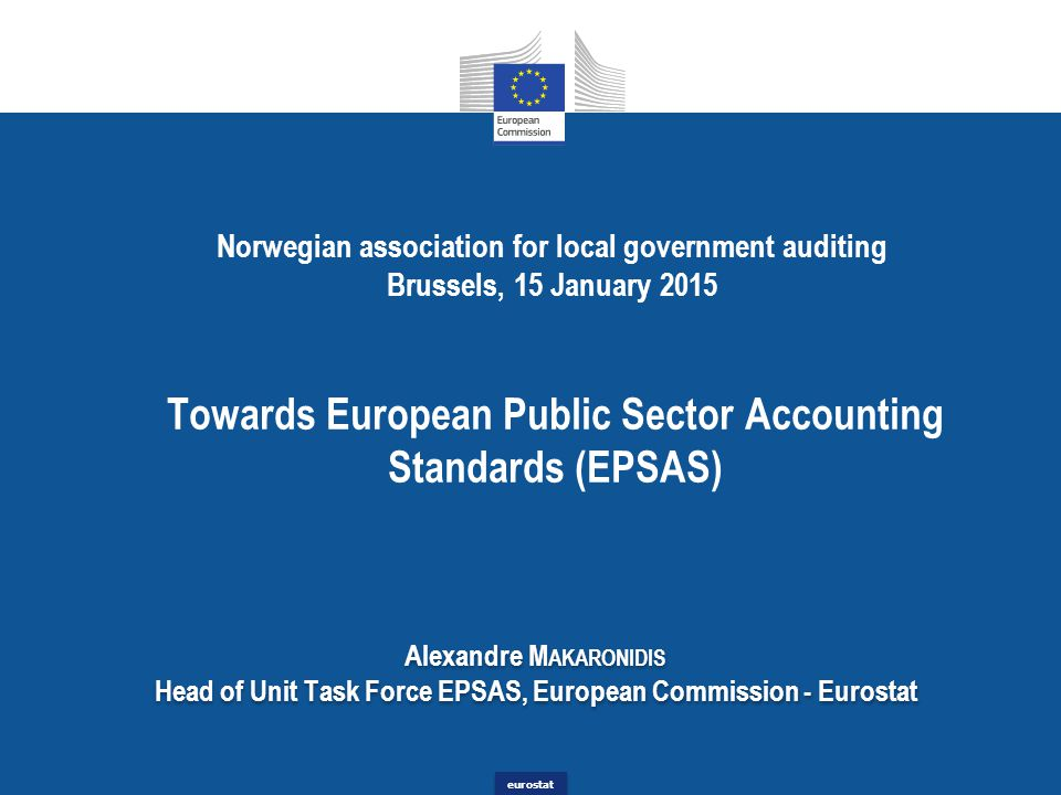 Towards European Public Sector Accounting Standards (EPSAS)