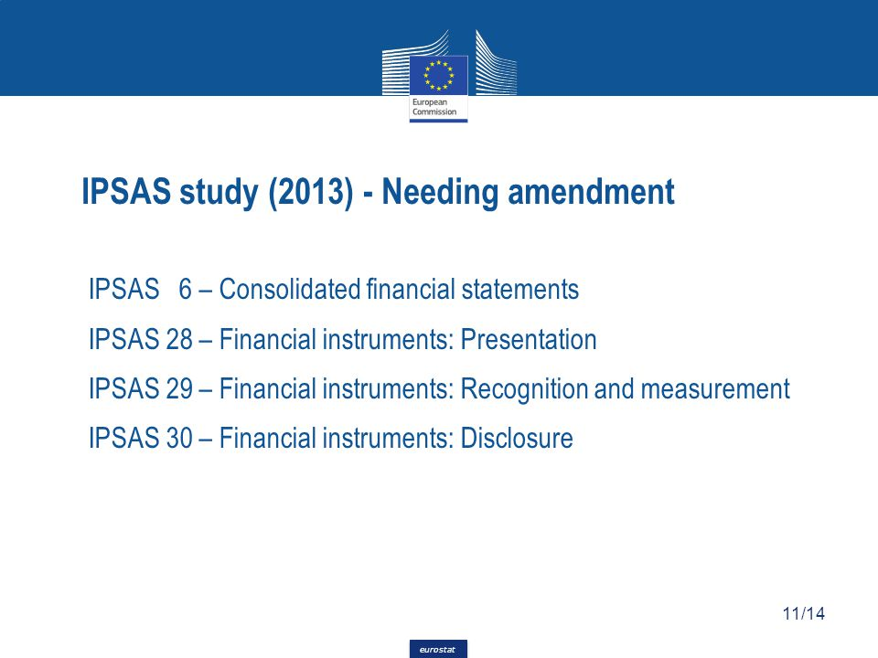 IPSAS study (2013) - Needing amendment