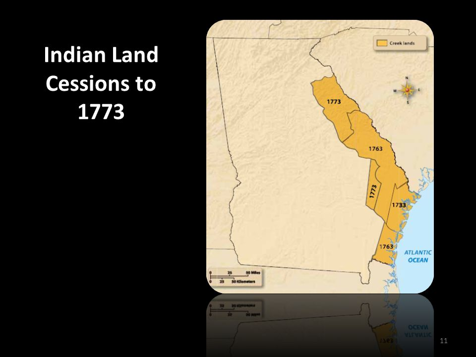 Indian Land Cessions to 1773