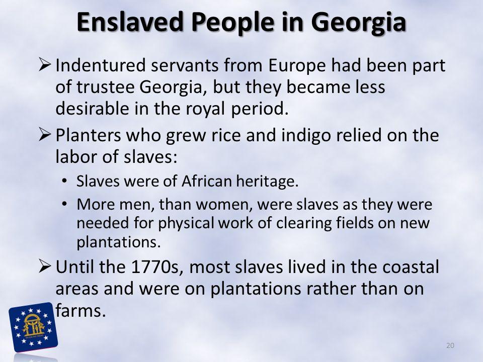 Enslaved People in Georgia