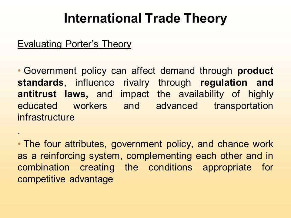 International Trade Theory and Policy Analysis - Table of Contents