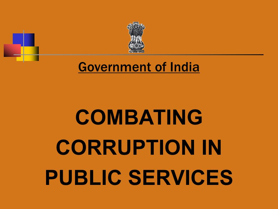 COMBATING CORRUPTION IN PUBLIC SERVICES