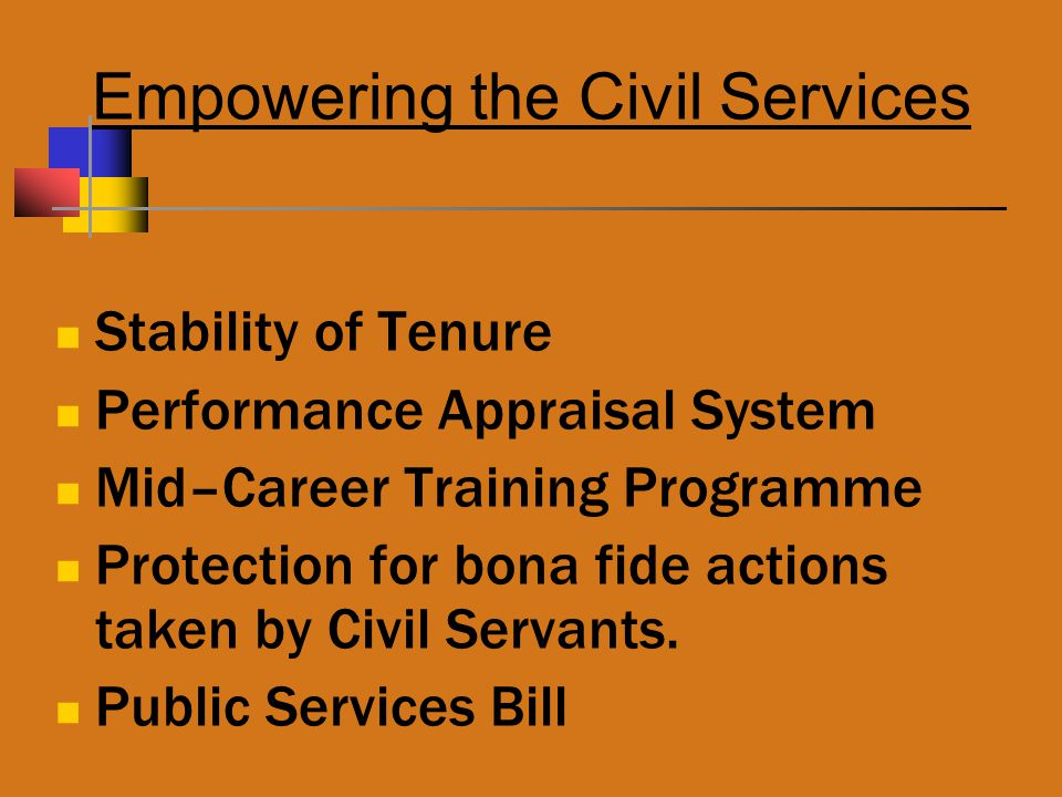 Empowering the Civil Services