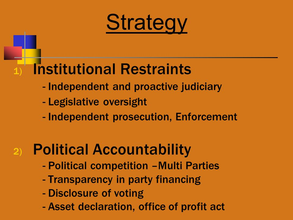 Strategy Institutional Restraints Political Accountability