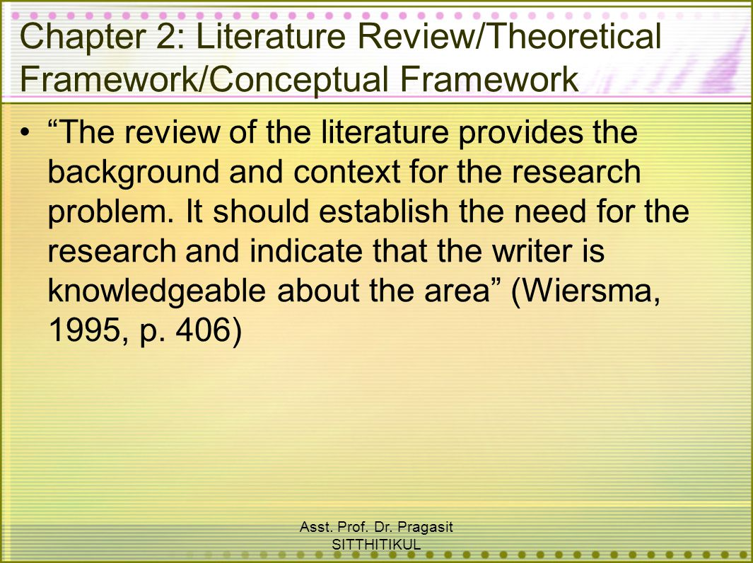 conceptual literature Lesson i-2 integrating conceptual frameworks : conceptual frameworks help the researcher view the phenomena of interest more acutely although that may not be initially apparent if your search for literature is limited to terms used only in one conceptual framework.
