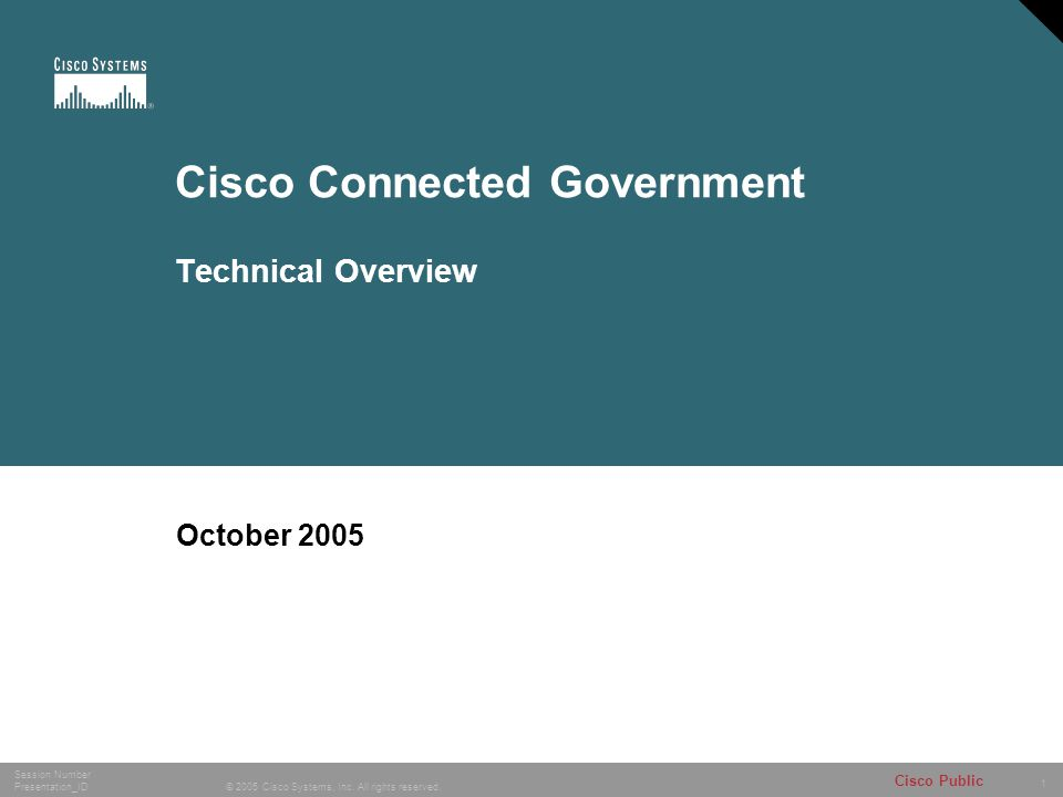 Cisco Connected Government Technical Overview