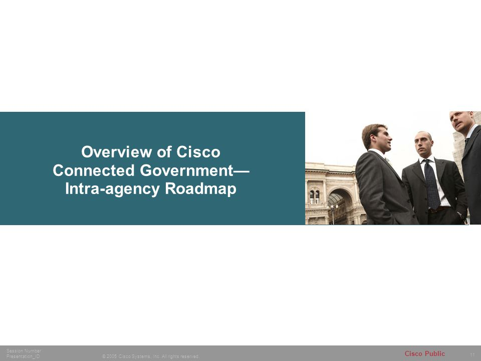 Overview of Cisco Connected Government— Intra-agency Roadmap