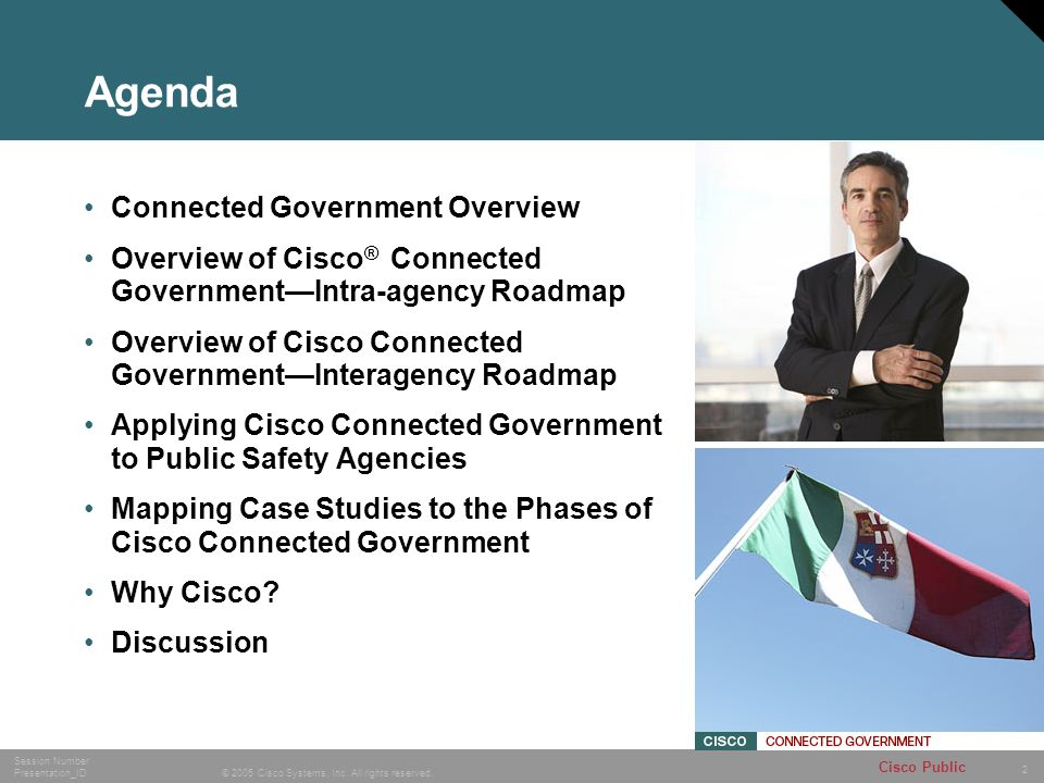 Agenda Connected Government Overview