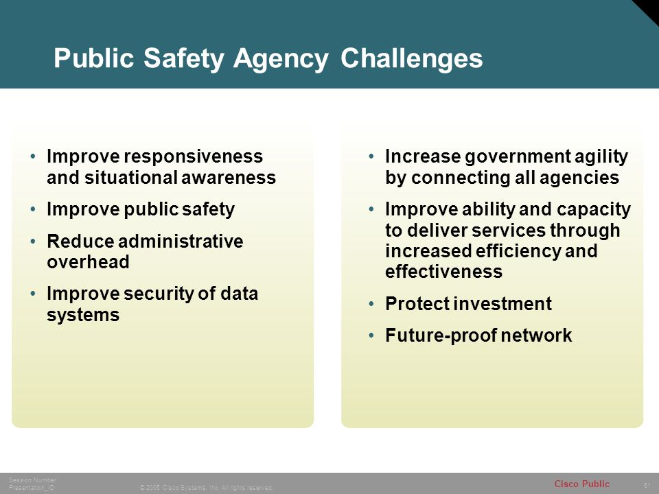 Public Safety Agency Challenges