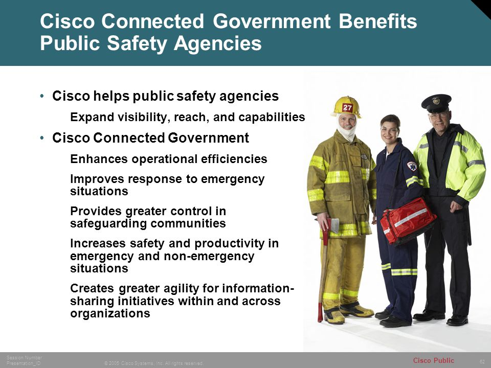 Cisco Connected Government Benefits Public Safety Agencies