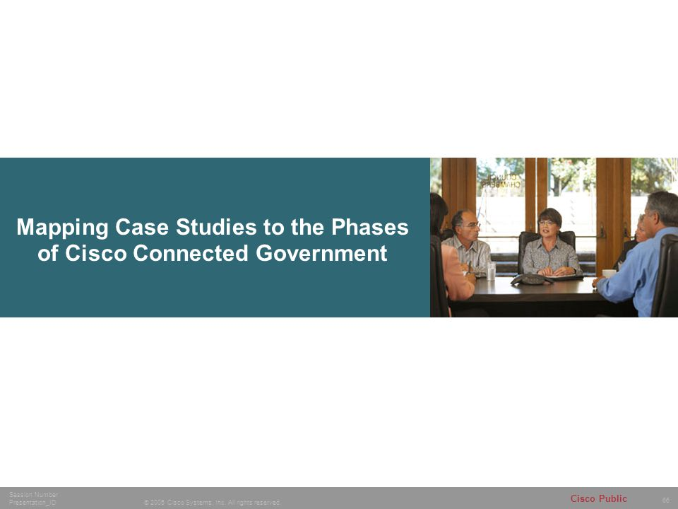 Mapping Case Studies to the Phases of Cisco Connected Government