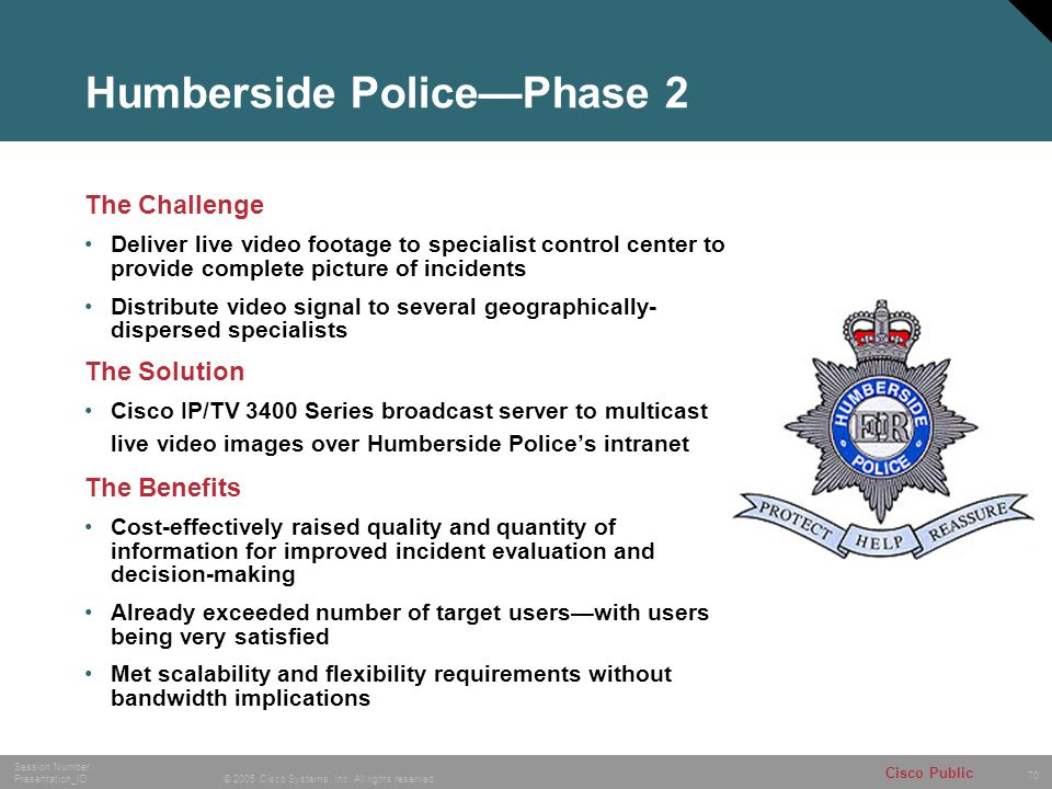 Humberside Police—Phase 2