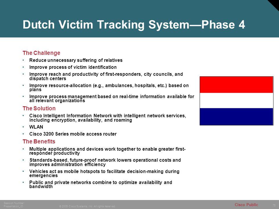 Dutch Victim Tracking System—Phase 4