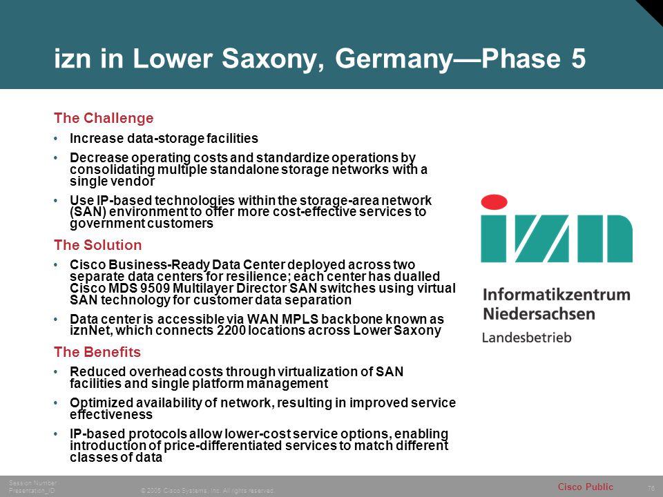 izn in Lower Saxony, Germany—Phase 5