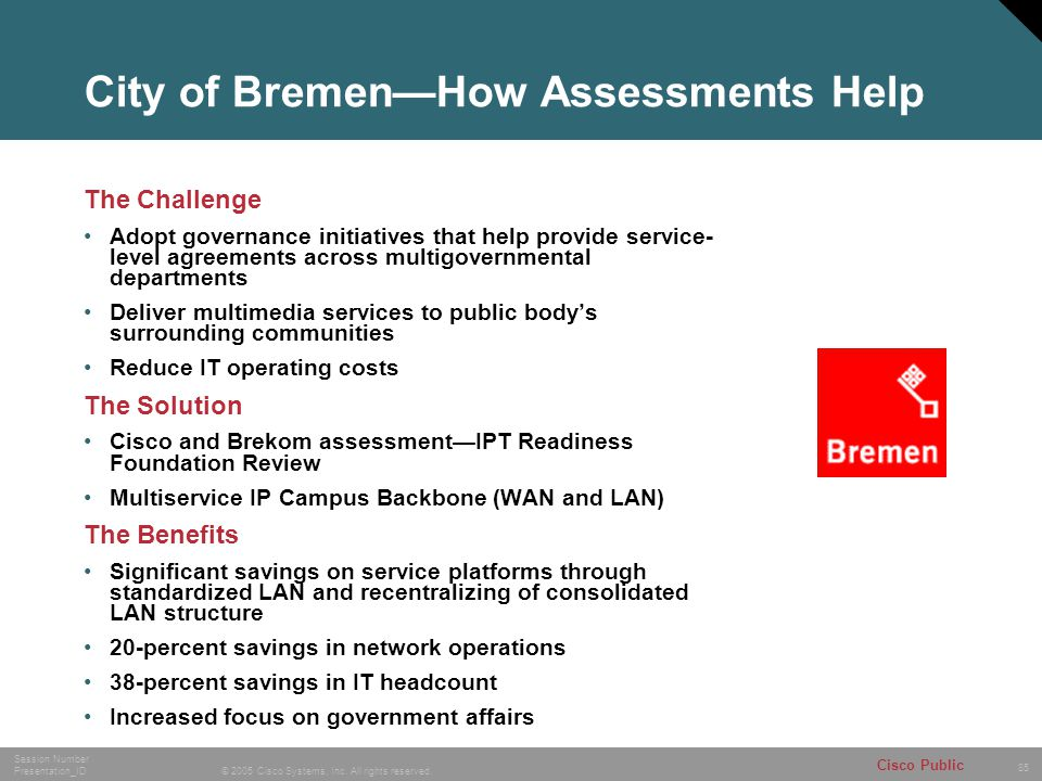City of Bremen—How Assessments Help